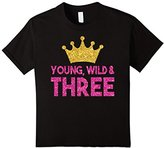 Kids Kids 3rd Birthday Shirt For Girls: Three Princess Crown Gift