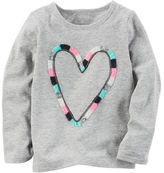 Carter's Long-Sleeve Heart Graphic Tee