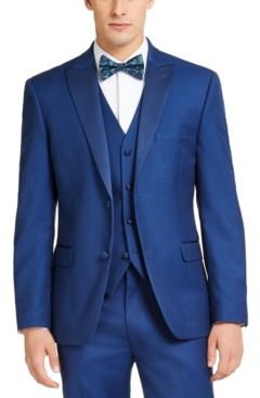 Alfani Men's Slim-Fit Stretch Blue Tuxedo Jacket, Created for Macy's