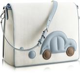 Pineider Blue Car Messenger Changing Bag