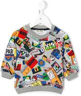 Kenzo badge print sweatshirt - kids - Cotton - 12 mth
