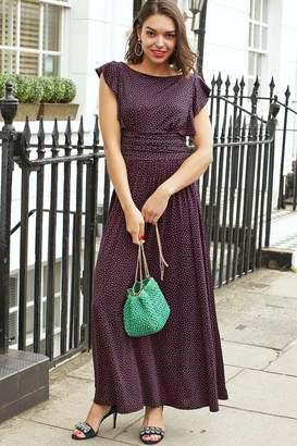 Onjenu - Rosie Frill Short Sleeve Dress in Amele - xs