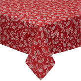 DESIGN IMPORTS Design Imports Holly Flourish Jacquard 52x52 Tablecloth
