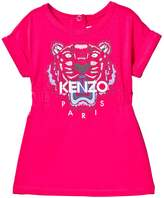 Kenzo Hot Pink Tiger Print Jersey Dress