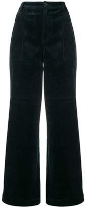 Ganni wide-leg corduroy trousers