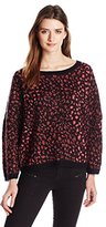 French Connection Women's Electric Leopard Knits Sweater