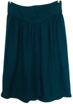 Sessun Green Silk Skirt for Women
