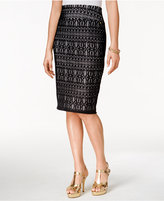 Thalia Sodi Lace-Crochet Pencil Skirt, Only at Macy's