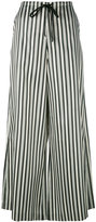McQ by Alexander McQueen striped palazzo trousers - women - Cotton/Polyester - 44