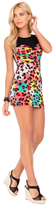 Luli Fama Salty Skin Mesh Sweetheart Body Con Dress in Multicolor (L459997)