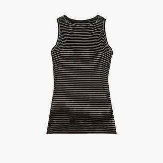 Frame Stripe-Pattern Tank Top