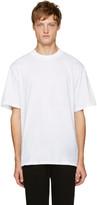 Alexander Wang White Wide Collar T-Shirt