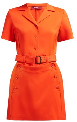 Sies Marjan Thandie Panelled Crepe Mini Dress - Orange