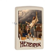Zippo Jimi Hendrix Cream White Outdoor Indoor Windproof Lighter Free Custom Personalized Engraved Message Permanent Lifetime Engraving on Backside
