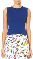 Carolina Herrera Crewneck Sleeveless Knit Shell