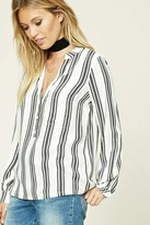 Forever 21 FOREVER 21+ Contemporary Striped Woven Top