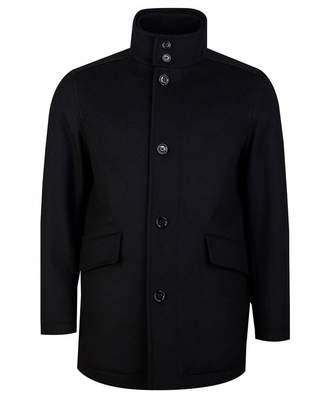 BOSS Coxton Wool Cashmere Car Coat Colour: BLACK, Size: 38