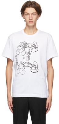 Comme des Garçons Homme Deux White Mickey Mouse T-Shirt