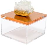 Mapleton Drive Metallic Gem Box with Himalayan Crystal
