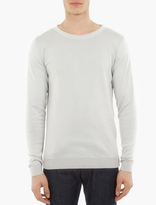 S.n.s. Herning Pale Grey Knitted Cotton Sweater