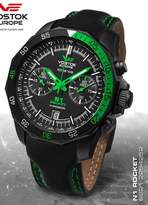 Vostok Europe Men's Rocket N1 Sport Chrono Quartz Analog Watch with Green 6S21/2254252