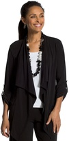 Chico's Knit Roll-Tab Jacket