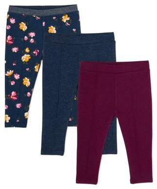 Garanimals Baby Girl Pintuck Pants, 3-Pack