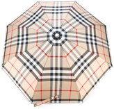 Burberry classic check umbrella - women - Polyester/Glass Fiber/Aluminium/Acrylonitrile Butadiene Styrene (ABS) - One Size