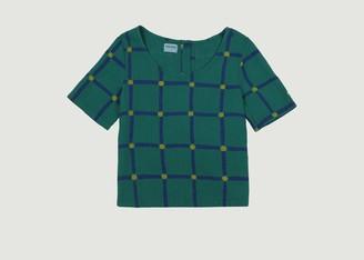 Bobo Choses Checked Organic Cotton Short Sleeves Top - XS