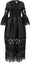 Erdem Irmina Embroidered Mikado-satin Gown - Womens - Black