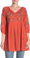 Forgotten Grace Embroidered Babydoll Tunic