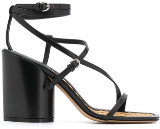 Salvatore Ferragamo Sculpted-Heel Strappy Sandals