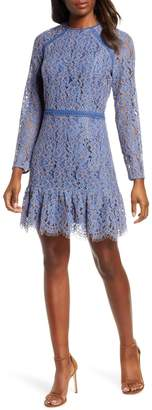 Adelyn Rae Alicia Long Sleeve Lace Cocktail Dress