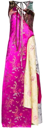 Rave Review Rose panelled oriential-inspired maxi dress