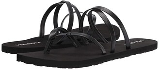 Volcom Easy Breezy II Sandal (Black Out) Women's Shoes