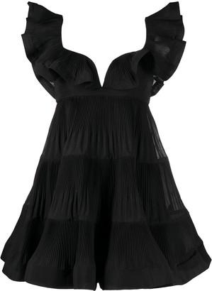 Zimmermann Ruffle-Trimmed Mini Dress