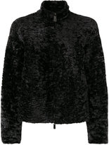 Drome furry detail jacket - women - Lamb Skin/Polyester - S