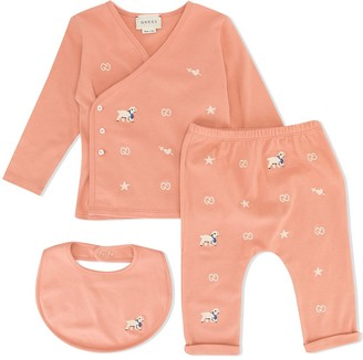 Gucci Kids Lost Lamb Pajama Set