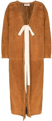 Plan C long shearling-lined coat