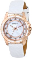 Bulova Women's Enamel Inlayed Case Watch 98P119