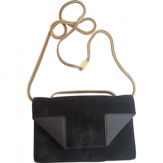 Saint Laurent Betty Khaki Suede Handbags