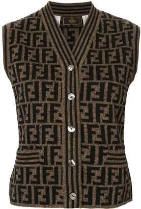 Fendi Pre-Owned knitted monogram vest