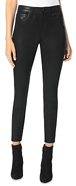 Joe's Jeans The Charlie Skinny Coated Ankle Jeans in Black