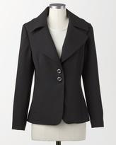 Coldwater Creek Plaza crepe jacket