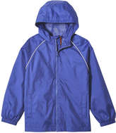 Joe Fresh Kid Boys' Hooded Rain Jacket, Bright Blue (Size S)