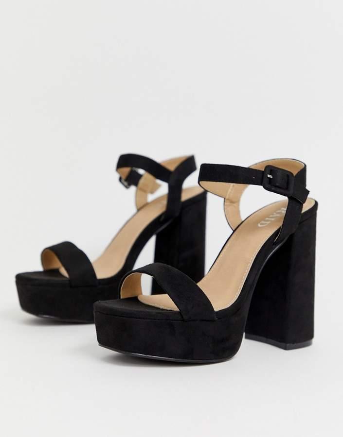 Black Suede Platform Sandals - ShopStyle