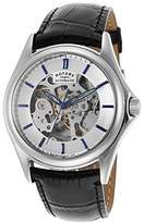 Rotary GS03357-06 41mm Automatic Stainless Steel Case Black Leather Mineral Men's Watch