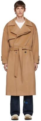 BEIGE ADER error Wool Robe Trench Coat