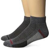 Reebok Men's 6 Pack Performance Quarter Colorblock Sock Gray