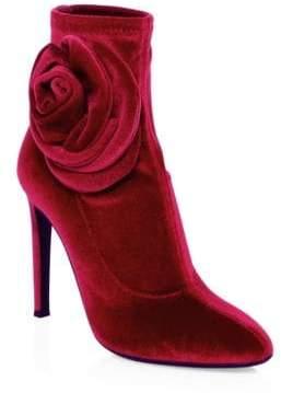 ec8275f670a9c Giuseppe Zanotti Single Rose Stiletto Heel Velvet Booties